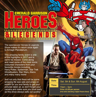 Armagh Observatory and Planetarium Heroes & Legends Show
